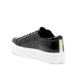 Kenneth Cole Abbey Black Platform Sneakers SZ: 6M